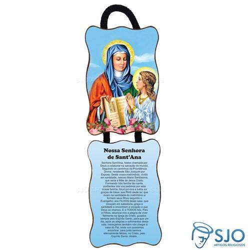 Adorno de Porta Retangular - Nossa Senhora Santana | SJO Artigos Religiosos