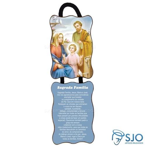 Adorno de Porta Retangular - Sagrada Família - Mod 02   SJO Artigos Religiosos