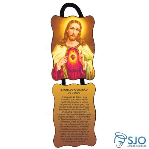 Adorno de Porta Retangular - Sagrado Coração de Jesus   SJO Artigos Religiosos