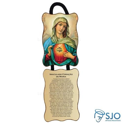 Adorno de Porta Retangular - Sagrado Coração de Maria | SJO Artigos Religiosos