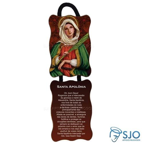 Adorno de Porta Retangular - Santa Apolônia | SJO Artigos Religiosos