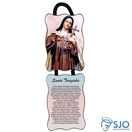Adorno de Porta Retangular - Santa Terezinha | SJO Artigos Religiosos