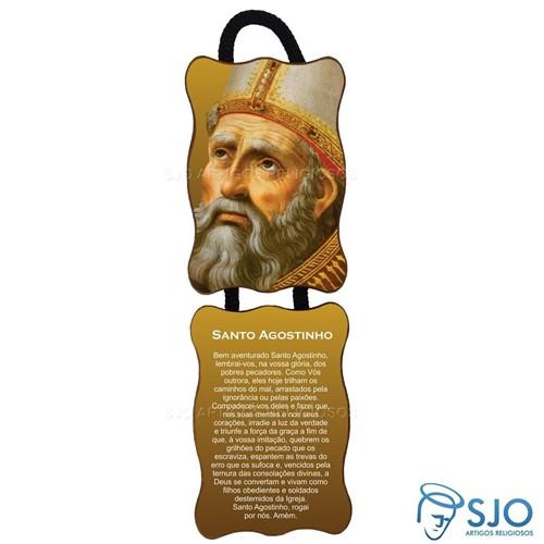 Adorno de Porta Retangular - Santo Agostinho | SJO Artigos Religiosos