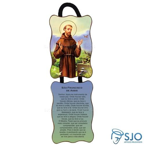 Adorno de Porta Retangular - São Francisco de Assis | SJO Artigos Religiosos