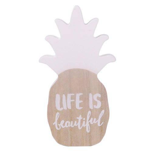 Adorno Decorativo Pineapple White Crown