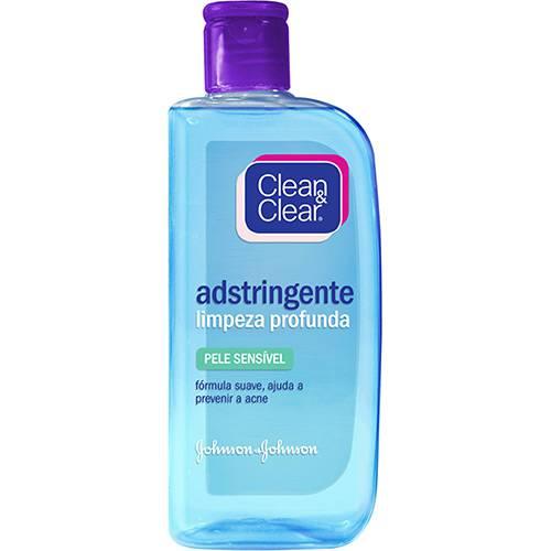 Adstringente Clean & Clear Limpeza Profunda Pele Sensível 200ml