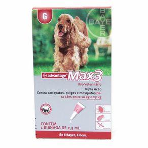 ADVANTAGE MAX 3 - para Cães de 10 a 25kg - Pipeta com 2,5ml