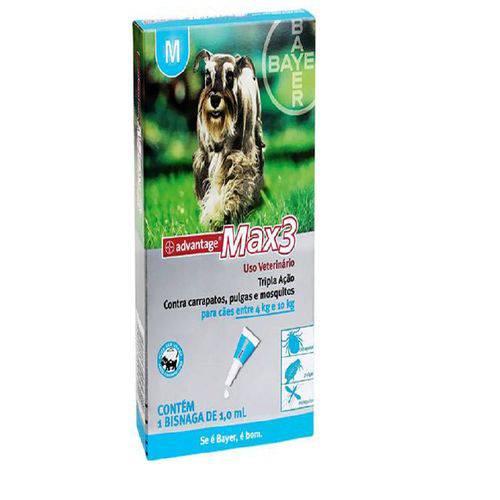 Advantage Max 3 - para Cães de 4 a 10kg - Pipeta com 1ml