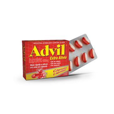 Advil Extra Alívio 400 Mg Pfizer 8 Cápsulas