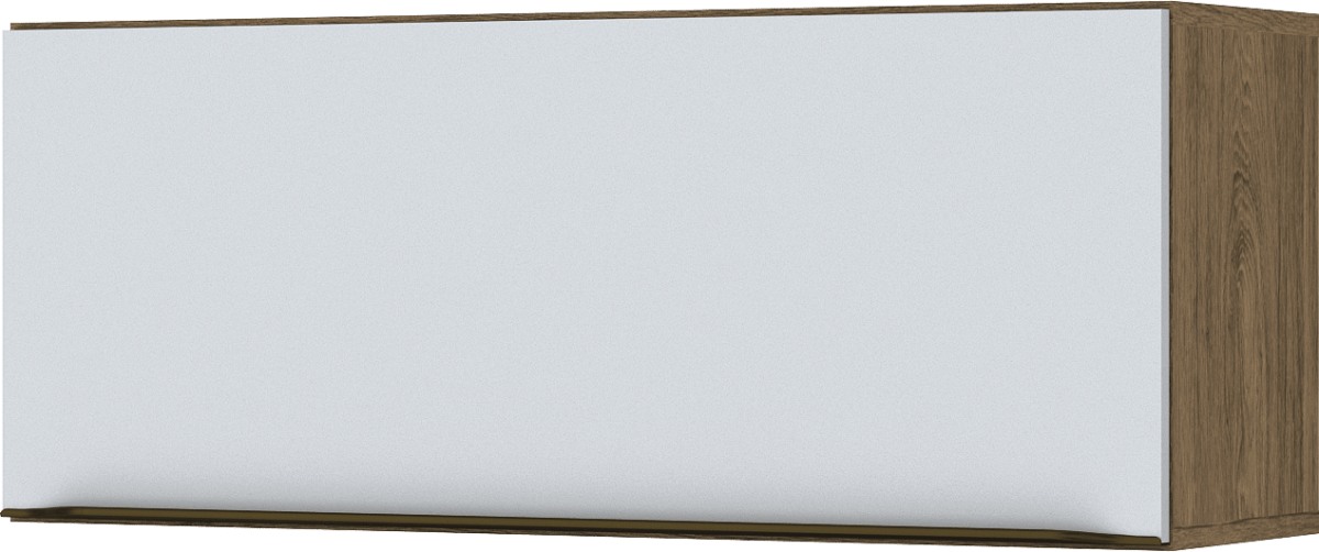 Aéreo 01 Portas Basculante 800mm Decore Henn Rústico Branco