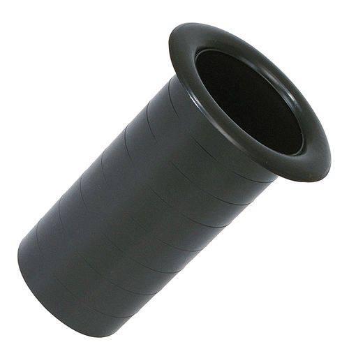 Aero Duto Permak 2 Polegadas Plástico Especial Preto para Acabamento de Caixa de Som
