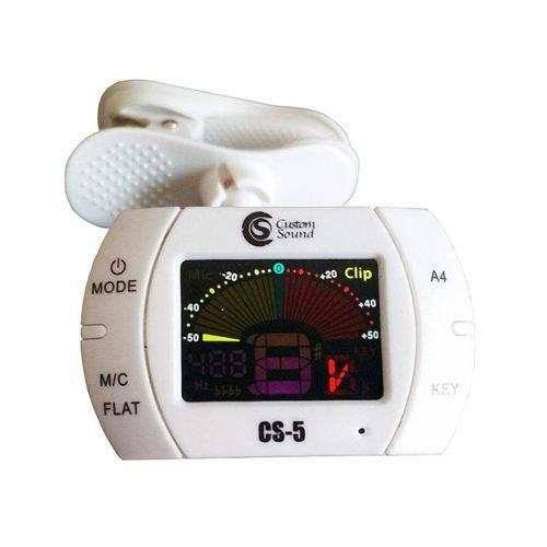 Afinador Digital Cromatico CS 5 WH - Custom Sound