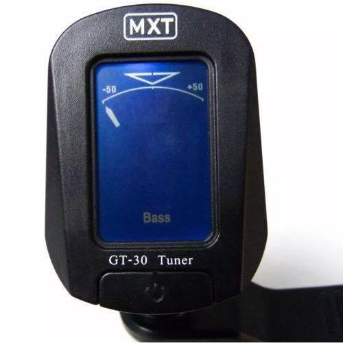 Afinador Digital Cromático para Guitarra Baixo Violão Gt-30