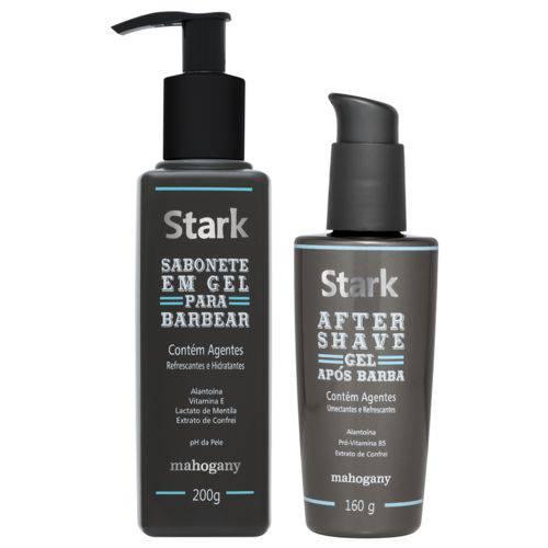 After Shave Stark 160 G + Sabonete em Gel para Barbear Stark 200 G