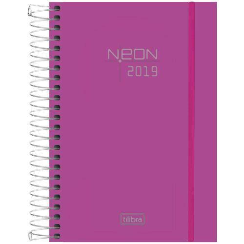 Agenda 2019 Neon Rosa M4 Esp 141917 5p Tilibra