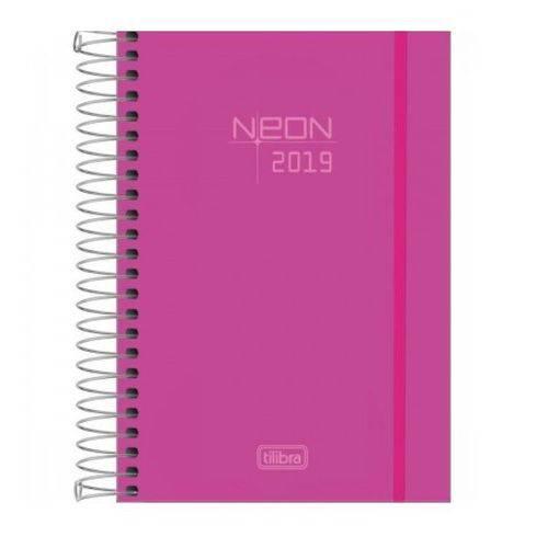 Agenda 2019 Tilibra Neon Rosa 176 Folhas