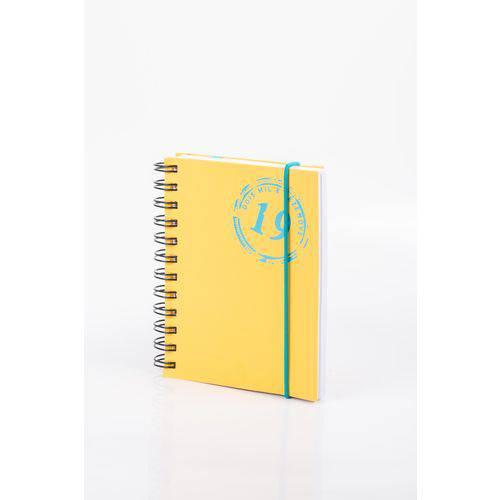 Agenda - Colors W - Amarela - Diária Pequena 2019