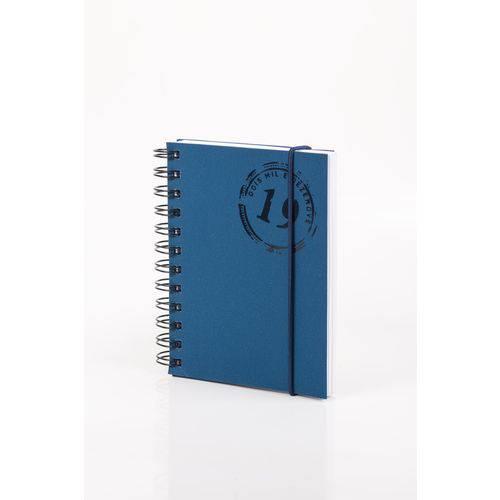 Agenda - Colors W - Azul Marinho - Diária Pequena 2019