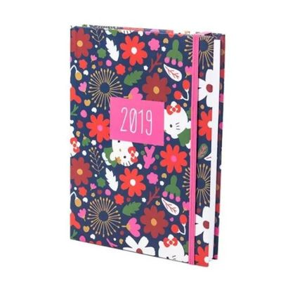 Agenda Diária 2019 Pequena Hello Kitty Flowers Teca Teca