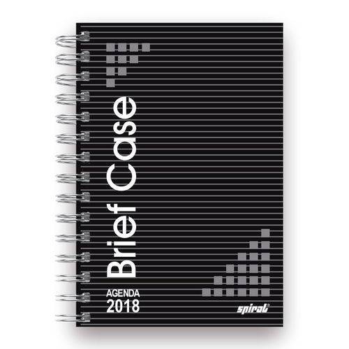 Agenda Diária Brief Case Preta 2018 07170 Spiral