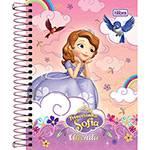 Agenda Diária Escolar M4 Princesinha Sofia Tilibra Rosa Capa Dura - 12 Meses