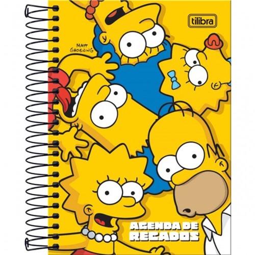 Agenda Espiral de Recados Simpsons Tilibra Permanente 149420