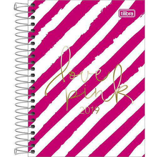 Agenda Espiral Diária Love Pink - 176 Folhas - Tilibra