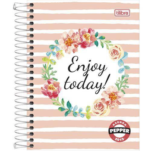 Agenda Espiral Diária Pepper Feminina Enjoy Today 2019 Tilibra