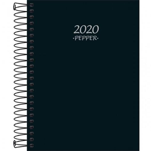 Agenda 2018 Pepper M4 Espiral Preta Tilibra