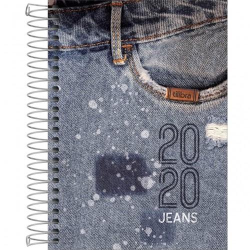 Agenda Espiral 2 Dias por Página Jeans 2020 - Sortido