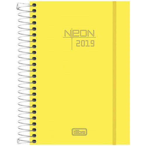 Agenda Espiral M4 2019 Neon Amarelo 176 Fls (16,4x11,7cm) - Tilibra