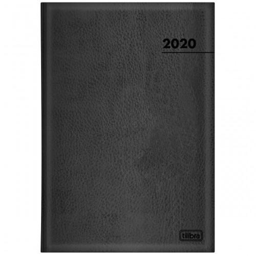 Agenda Executiva Costurada Diária de Mesa Preta 2020
