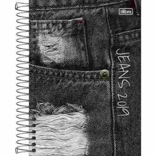 Agenda Jeans Tilibra 2019 Espiral 8 Unid