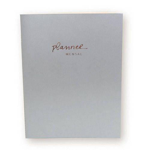 Agenda Planner Mensal - Metalizado Prata