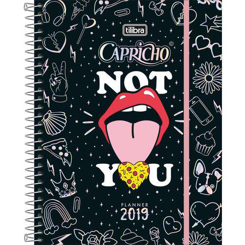 Agenda Tilibra Capricho Planner 2019 Capa Dura com 80 Folhas
