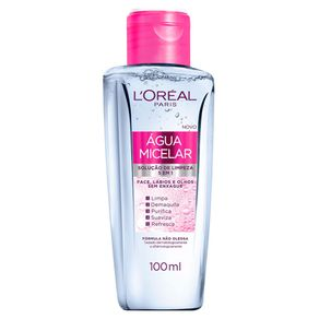 Água Micelar L'Oréal Paris Solução de Limpeza Facial 5 em 1 100ml