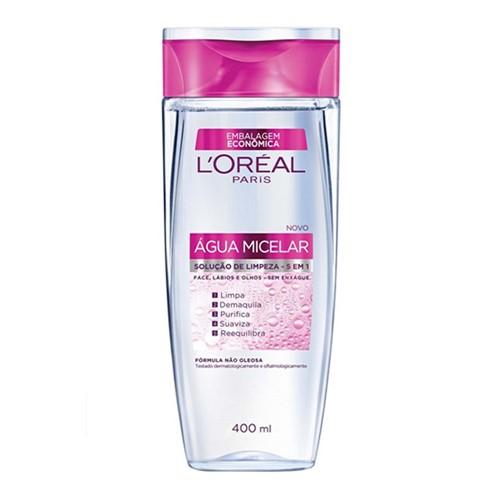 Água Micelar L'oréal Solução de Limpeza 5 em 1 400ml