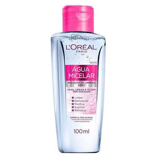 Água Micelar Solução de Limpeza Facial 5 em 1 L'oréal Paris - 100ml