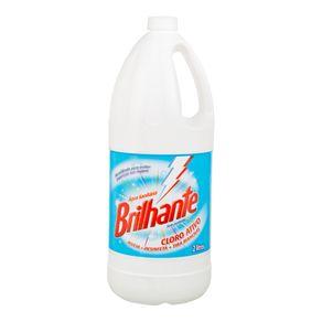Água Sanitária Cloro Ativo Sem Perfume Brilhante 2 Litros