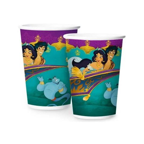 Aladdin Copo Papel 180ml C/8 - Regina