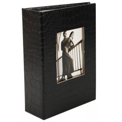 Álbum de Luxo Preto para 100 Fotos 10x15 com Visor Pp-46100-50-po