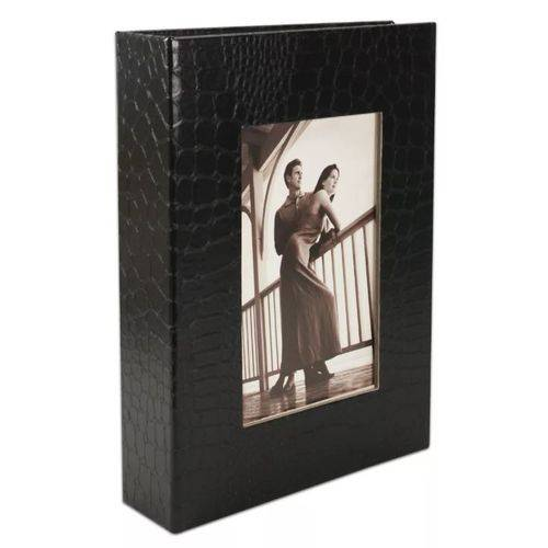 Álbum de Luxo Preto para 100 Fotos 15x21 com Visor Pp-68100