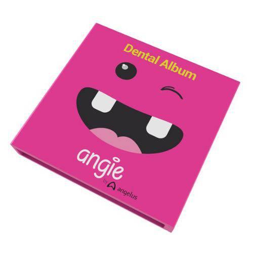 Album e Estojo Porta Dente de Leite - Album Dental - Rosa - Angie By Angelus