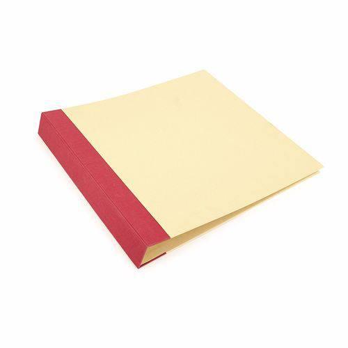 Álbum P/ Scrapbook Toke e Crie As038 37x38,5x5cm Vermelho e Kraft