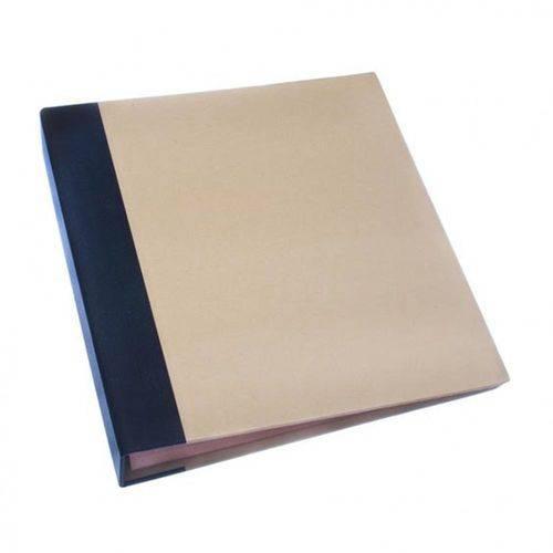Álbum para Scrapbook Grande - AS037 - Preto e Kraft - Toke e Cire