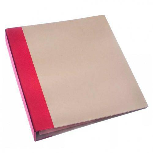 Álbum para Scrapbook Grande - AS038 - Vermelho e Kraft - Toke e Cire