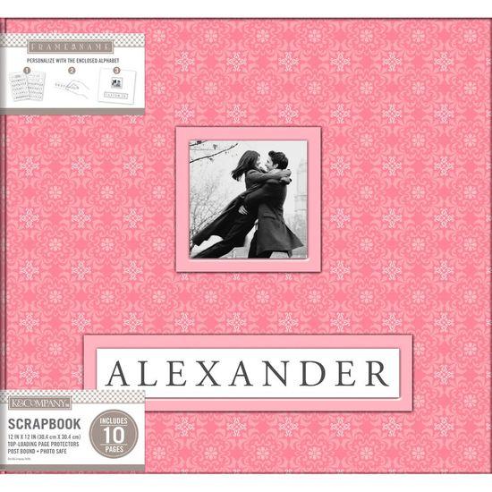Álbum para Scrapbook K&C WER250 Pink Alexander 30,5x30,5 Rosa