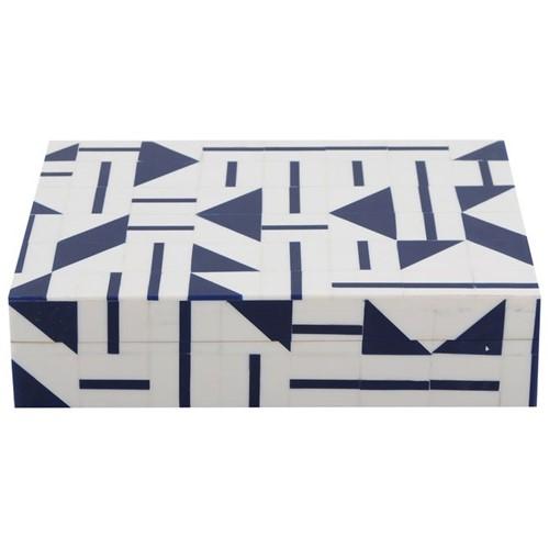 Aleato Blue Caixa 20 Cm X 15 Cm X 5 Cm Branco/azul