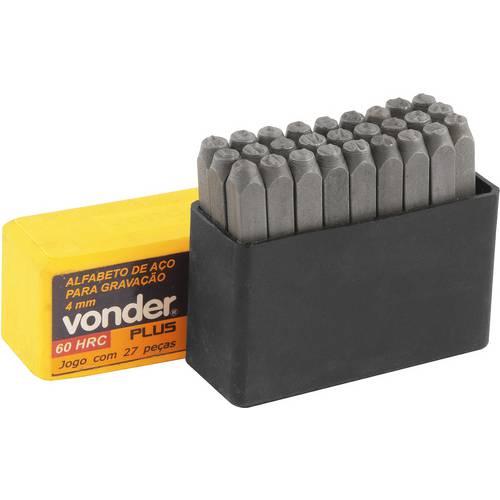 Alfabeto de Aço Punção 5mm A-Z para Gravação - Conjunto - Vonder Plus