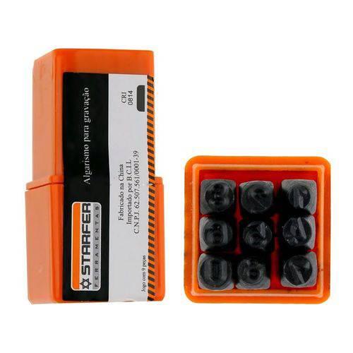 Algarismo para Gravação 6mm 9 Peças Starfer 01296019